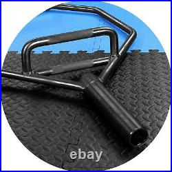 Deadlift Bar 2 in Olympic 1000 lb Capacity Hexagon Weight Lifting Hex Trap Black