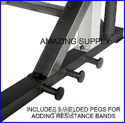 Deluxe Max Power Squat Rack + Pullup Bar with Safety Spotter Arms FAST SHIPPING