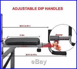 Dip Station Chin Up Bar Power Tower Pull Push Home Gym Fitness Core