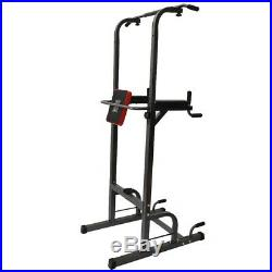 Dip Station Chin Up Bar Power Tower Pull Push Home Gym Fitness Core US STOCK NEW