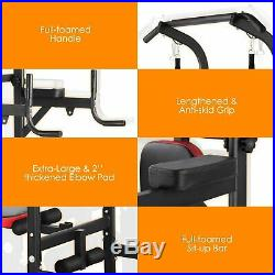 Dip Station Chin Up Bar Power Tower Pull Push for Home Gym Strength Training US
