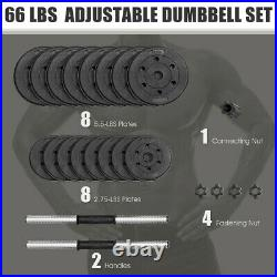 Dumbbell Bar Set Adjustable Barbell Weights Exercise Equipment Home Gym Fitness