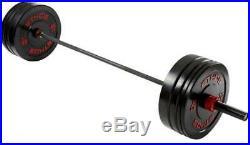 ETHOS 205 lb. Olympic Bar Rubber Bumper Plate Set BRAND NEW FULL OLYMPIC SET