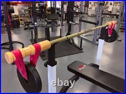 Earthquake BandBell Bamboo Bar Barbell for PowerLifting, ReHab, PreHab, Dynamic