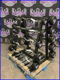 Empire Rubber Fixed EZ Curl Bar Set 20-110 lbs. With RACK BUYER PAYS SHIPPING