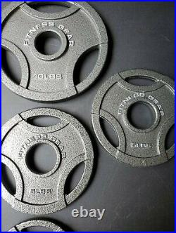 Fitness Gear New Weight Plate Set 45LB Total 10 5 2.5 Pounds 2 Bars Olympic