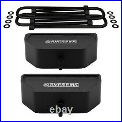 For 99-04 Ford Super Duty 3.5 Front + 3 Rear Lift Blocks Kit with Adj Track Bar