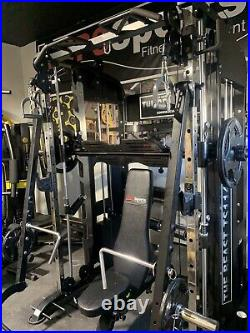 Functional Trainer With Jammer Bars Smith machine Home Gym With 400lbs Weight