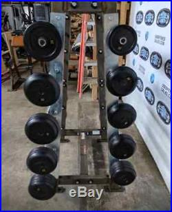 Hammer Strength Curl Bar Rack with Troy Straight Bars and Ez Bars Set