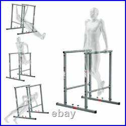 Heavy Duty Dip Station Stand Home Gym Trainer Parallel Bar Fitness Workout