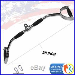 Heavy Duty Home Gym Cable Attachment 28 Lat Bar PressDown Strength Training New