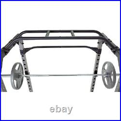 Heavy Duty Power Cage Squat Rack with Pullup Station, Safety Bars Brand New
