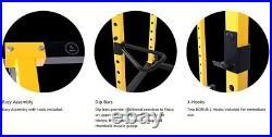 Heavy Duty Squat Rack Power Cage with Pullup Bar + Dip Station + Bonus J-Hooks NEW