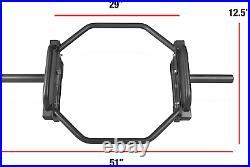 Heavyweight Barbell Deadlift Bar / Hexagon Olympic Trap Bar / Hex Weight Lifting