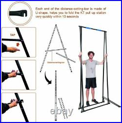 High Folding Pull Up Bar Stand Sturdy Power Tower Workout Station for Home Gym