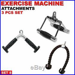 Home Gym Cable Attachment Handle Machine Strength Exercise Chrome PressDown New