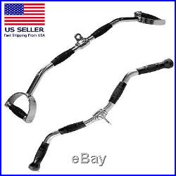 Home Gym Cable Attachment Lat Exercise Machine Tricep Bar Pull Handle 28 30