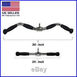 Home Gym Cable Attachment Lat Exercise Machine Tricep Bar Pull Handle 30 20