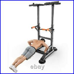 Home Gym Dip Station Power Tower Pull Up Bar Strength Training Workout Fitness