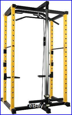 Home Gym Power Cage Dip Bars Body Weightlifting Squat Rack Lat Pull Down 1000 lb