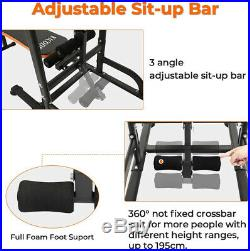 Home Gym Power Tower Workout Dip Station With Sit up Bench Pull Up Bar Dip Station