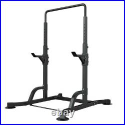Horizontal Bar Pull-up Barbell Rack Stand Squat Home GYM Weight Liftting Fitness
