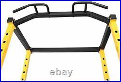 Hulkfit Adjustable Power Cage Multi Function J Hooks Dip Bars Home Gym Workout