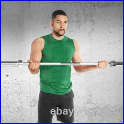 Iron Olympic Barbell Bar Weight Lifting Bar Weight Workout Gym Fits 2-Inch W NEW