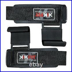 KIKFIT Weight Lifting Gym Hook Grip Straps Power Training Wrist Support Hand Bar