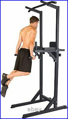 Koreyosh Adjust Power Tower Pull Up Bar Dip Station Home Gym Strength Training