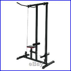 Lat Pull Down Machine Multifunction Low Row Bar Cable Fitness Body Workout Gym
