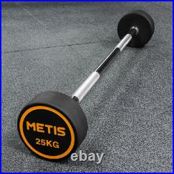 METIS Rubber Barbell Weights 1030kg FIXED BAR Weightlifting Gym Workouts