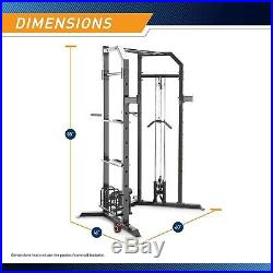 Marcy Power Squat/Bench Cage Pull up Bar, Pulley System SM-3551