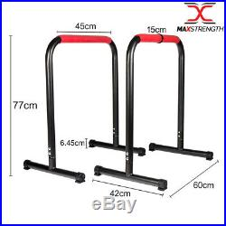 MaxStrength Parallel Dip Bars Home Gym Workout Crossfit Calisthenics Station
