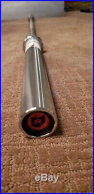 NEW! ROGUE FITNESS Stainless Steel & Chrome The OHIO Bar Olympic Power Lifting