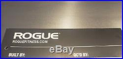 NEW! Rogue Fitness Ohio Deadlift Bar CERAKOTE All Black 20kg Power Lifting 7