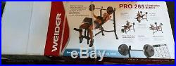 (NEW!) Weider Pro 265 Standard Bench with Bar NO WEIGHTS INCLUDED