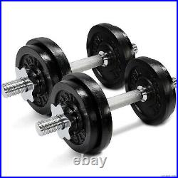 NEW Yes4All 50lbs Adjustable Dumbbells w Dumbbell Bar Connector SHIPS FAST