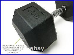 Neo-Fit Heavy Duty Rubber Hex Dumbells Dumbbells Set Weights, 2.5kg-30kg Pairs