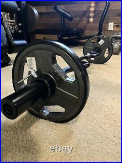 New 2 Olympic EZ Easy Super Bicep Curl Bar Barbell, 35 Lb Weight Set, In Stock