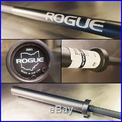 New Rogue Fitness Cerakote Ohio Bar Black Shaft, Sleeves (olympic Power 7')