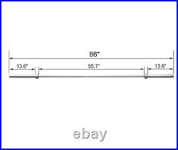 New Steel 7ft Olympic Weightlifting Barbell Bar with Clips FREE & FAST SHIPPING