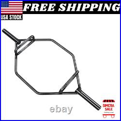 Olympic 2-Inch Hex Weight Lifting Steel Trap Bar, 1000-Pound Capacity