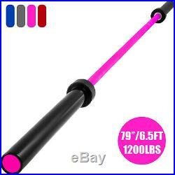 Olympic Barbell Bar 79 1200lb Bench Press Bar Weight Bar Chrome 170kpsi Fitness