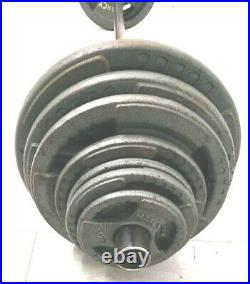 Olympic Barbell Straight Bar 6ft Weights Axle Thin Grip Training UK STOCK