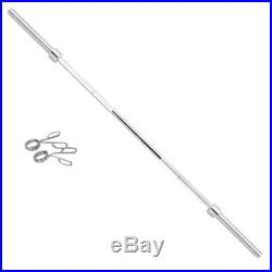 Olympic Chrome Bar 7Ft 330lb Weight Lifting Barbell Rod for Workout Gym Training