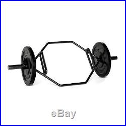 Olympic Combo Hex Trap Bar Barbell Weight Lift Workout Gym Squat Deadlifts New