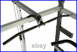 Olympic Squat Rack Power Cage with LAT PULLDOWN, Pullup Bar, Dip Stand, SHIPS FAST
