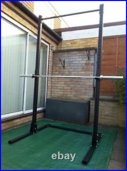 Olympic Squat Stand Power Rack Freestanding Pull Up Bar Grom