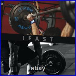 Olympic Weight Plates Barbell Set 2 Pair 10lb/25lb/35lb/45lb/55LB Rubber Bumper